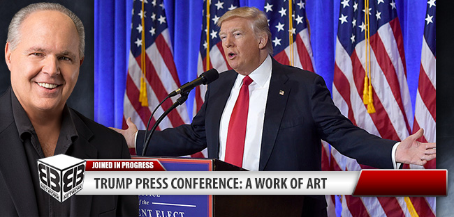 Trump Press Conference: A Work of Art | Rush
